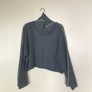Topshop cropped gray sweater